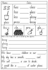 It a sorting activity and a partner game. Double Consonant Ss Activity Sheet Studyladder Interactive Learning Games