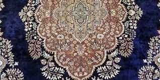 large indian kashmir silk area rug sapphire blue green brown cream