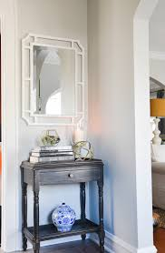 white foyer table. How To Style A Foyer Table And Using White Mirror In Www.homewithkeki E