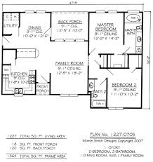 Small 2 Bedroom Cottage Plans 2 Bedroom 1 Story House Plans