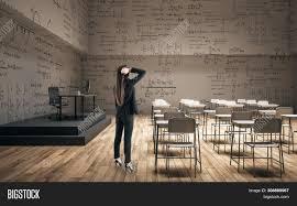 Modern Math Classroom Design Woman Modern Classroom Image Photo Free Trial Bigstock