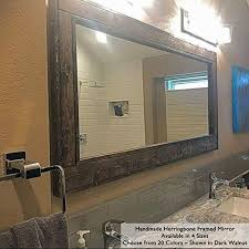large wood framed mirror you ll love in