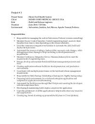 Build And Release Engineer Resume Fiveoutsiders Com