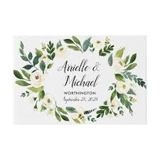 Wedding Guest Book Vintage Floral Greenery Garden Wedding Guest Book