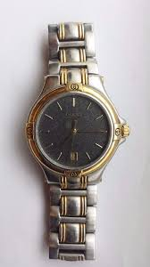 gucci 9040m. mens gucci 9040m swiss made two tone gold and silver watch boxed 9040m