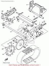 Yamaha ys624tm snow blower 1988 track suspension 1 parts list on honda snowblower model for track