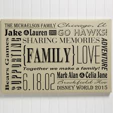 personalized family canvas print wall art our family 14678 on personalized wall art canvas with personalized family canvas print wall art our family