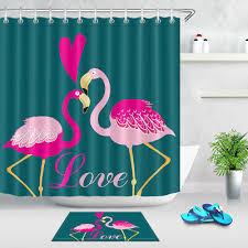 Тропический <b>Фламинго</b> в любви водонепроницаемая ткань набор ...