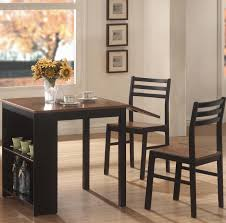 Narrow Tables For Kitchen Small Kitchen Drop Leaf Tables For Small Spaces 3pc Dinette Set