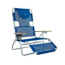 Ostrich 3-in-1 Blue Aluminum Folding Beach Chair & Lawn Chairs - Patio Chairs - The Home Depot Cheerinfomania.Com