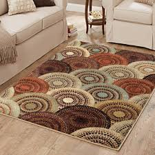better homes or gardens taupe ornate circles area rug or runner com