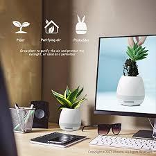 office flower pots. Okearin F1 Bluetooth Speakers Night Light Breathing Music Flower Pots Smart Plant Play Office