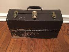 kennedy cantilever tool box. vintage kennedy metal cantilever tool box tackle no reserve! v