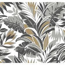 And Gold Palm Silhouette Wallpaper ...