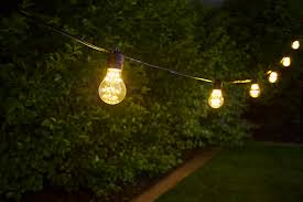 outdoor led decorative string lights 10 in line sockets fits e26 bulbs shown with a19d x2fw sold separately installed