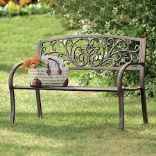 Metal Garden Bench Seat  Home Outdoor DecorationOutdoor Wrought Iron Bench
