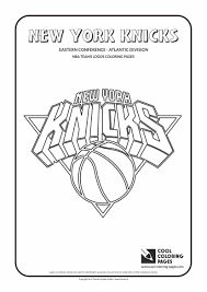 Cool Coloring Pages Nba Teams Logos New York Knicks Logo