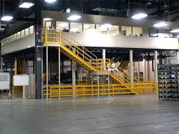 Warehouse mezzanine modular office Portafab Modular Mezzanine Modular Office Install Material Handling Installation Group Mezzanine Systems Installation Mezzanine Floor Installers