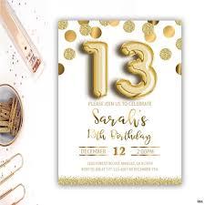 13th Party Invitations 13th Birthday Party Invitations 13th Birthday Invitation Girl Thirteenth Birthday Invitation