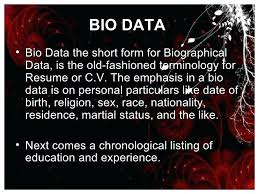 Resume Vs Biodata Curriculum Vitae Resume Difference Rural Bio