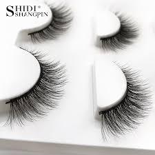 <b>Shidishangpin 3 Pairs Mink</b> Eyelashes Natural Fake Eye Lashes ...