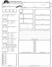 5th edition d d character sheet dungeons dragons 5th edition character sheet simple dnd