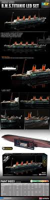 Titanic Model With Led Lights Academy 14220 Rms Titanic 1 700 High Detail Model Kit With