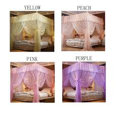 4 Corner Poster Canopy Bed Curtains Bed Canopies mosquito Net For ...