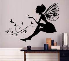 Small Picture Flower Fairy Wall Decoration Quote Vinyl Wall Stickers Art Mural