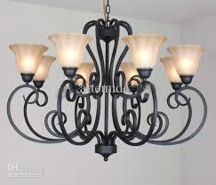 wrought iron chandelier dining room