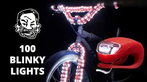 Bmx Bike Lights 100 Blinky Bike Lights On A Fat Tire Bmx
