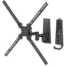 level mount lm37dj full motion vesa tv wall mount for 10 50 inch tvs up to 70 lbs