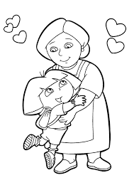 Small Picture Dora the Explorer Coloring Pages 7 Coloring Kids