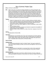 Story Grammar My Antonia Story Grammar Graphic Organizer For 9th 12th