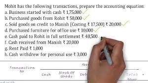 recording of transactions i accounting equation solutions problem 3 solution