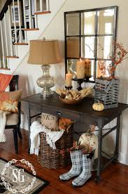 front hallway table. FALL HOME TOUR AT. Entryway IdeasEntryway StairsEntryway Table Decorations Hallway Front R