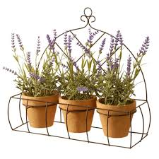 The Home Decorating Company National Tree Company Decorating Lavender With Pot In Metal Holder