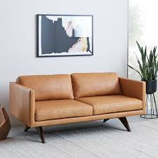 Brooklyn Down-Filled Leather Sofa (74