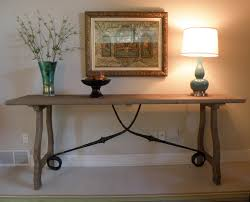 charming trestle console table in pottery barn craigslist with benchwright dining room sofa chairs farm for furniture white desk used toronto modular bar