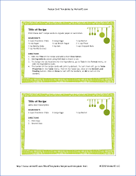 4x6 Recipe Card Template with pretty green border and hanging pots ...