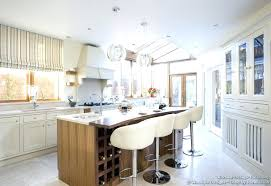 comfy and stylish these creamy leather bar stools reflect the style of this kitchen nicely stool