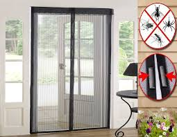 magic curtain door mesh magnetic fastening hands free fly bug insect