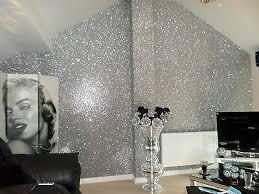 glitter wallpaper silver chunky premium