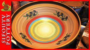 pottery painting slip painting painting a large bowl with sifoutv pottery 46