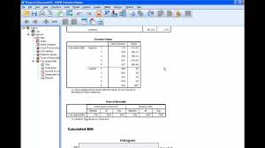 how to compute bmi in spss
