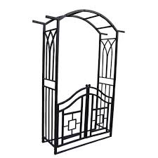 metal arbor with gate