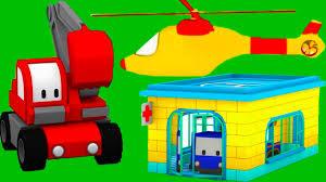 Tiny Trucks The Hospital Learn With Tiny Trucks Bulldozer Crane Excavator
