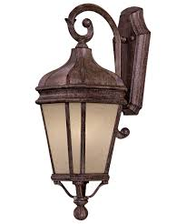 french outdoor lighting. shown in vintage rust finish and double french scavo glass outdoor lighting