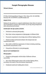 sample photography resumes 29 best photographer resume images photography 101 photography