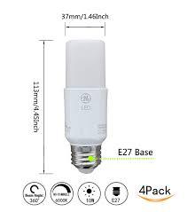 Ge Lighting 9w Bright Stik Soft White Led Bulb Ctkcom Ge Lighting 10w Led Light Bulbs Bright Stik 4 Pack E27 Daylight White 6500k Bulb 60w Equivalent Ultra Bright 760lm Lamp 240 Degree Beam Angle